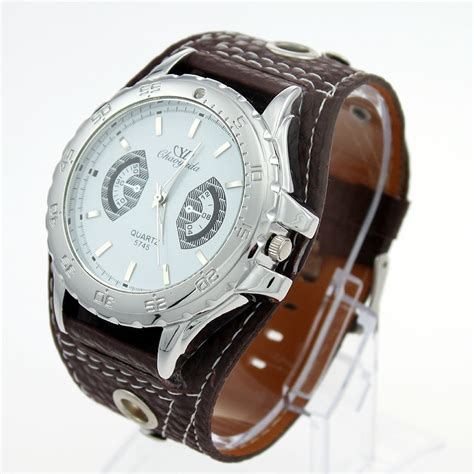 popular wide leather band buy cheap wide leather