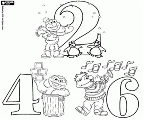 coloring pages numbers sesame street sesame street numbers coloring pages printable games