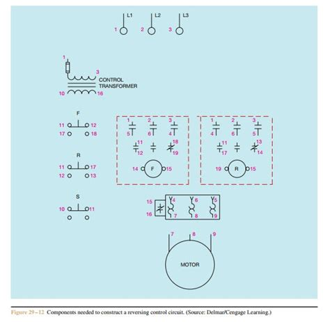 3 phase reversing contactor wiring diagram part winding