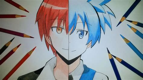 imagenes de karma anime speed drawing karma akabane and nagisa shiota youtube