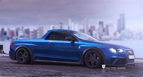 audi ute rendering audi rs4 ute is a surprisingly good idea