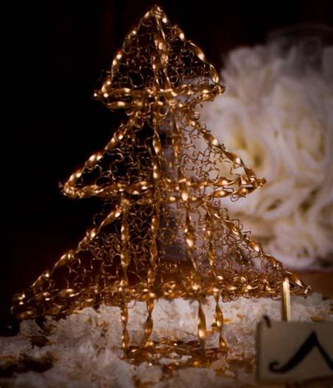 golden metal wire christmas holiday tree christmas and