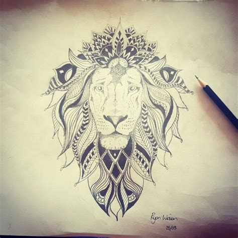 tattoo mandala lion oltre 25 fantastiche idee su mandala lion su pinterest