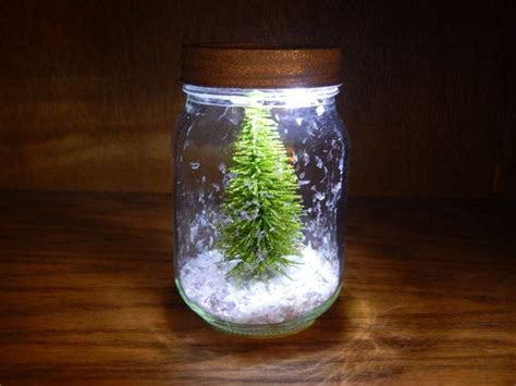 light up mason jar dry snow globe with glitter by