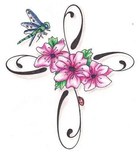 cross and flower tattoos names tattoos for search inked