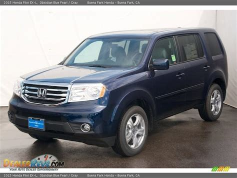grey honda pilot 2015 honda pilot ex l obsidian blue pearl gray photo 3
