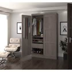 how to build a wardrobe armoire espresso wardrobe closet design plan build