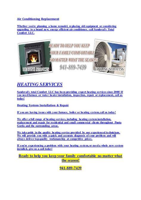 total comfort heating and cooling hvac service ac and heating cooling repair punta gorda fl