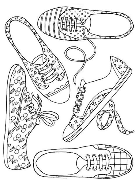 coloring page shoes shoes 6