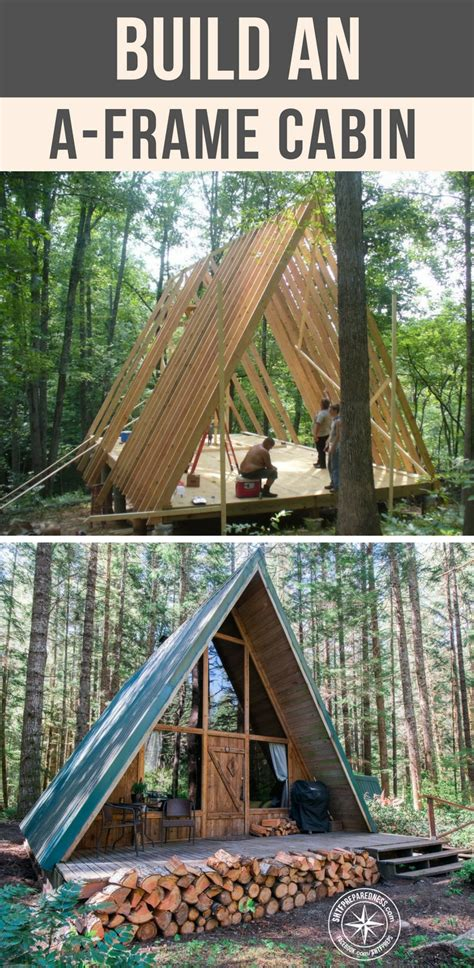 how to build an a frame cabin build an a frame cabin