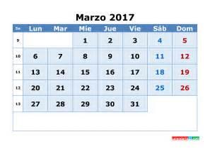 Marzo Calendario Calendario Marzo 2017 Para Imprimir Gratis Calendario Mensual