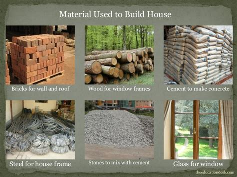 what do you need to build a house environmental science evs houses and clothing class ii