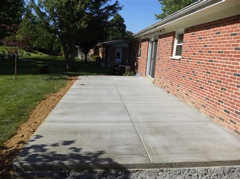 cement backyard backyard concrete patio buchheit construction