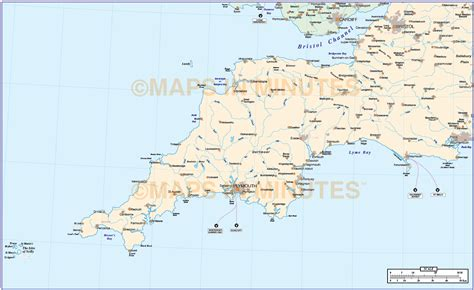 map of south west digital vector south west basic map in illustrator