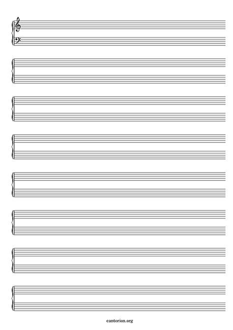 printable staff paper piano printable blank piano sheet music paper