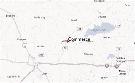 commerce texas map commerce texas location guide