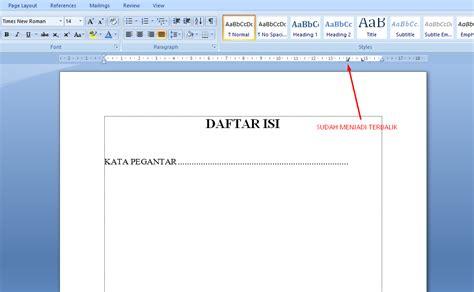 cara membuat garis di halaman word cara membuat page cara membuat daftar isi dengan titik titik otomastis di