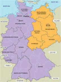 West Germany Map by Large Map Of East And West Germany