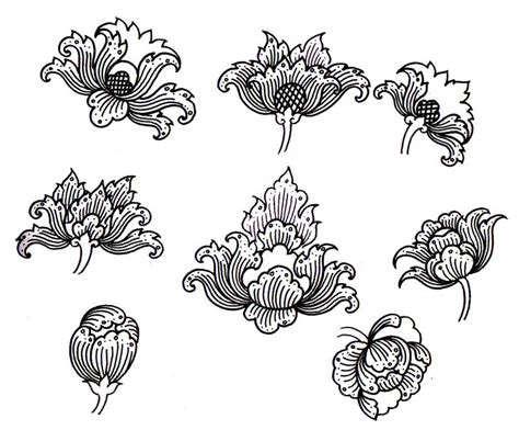 thai flower tattoo designs thai ancient work culture pudtarn basic pattern of