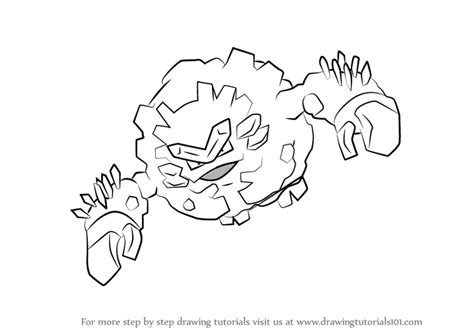 pokemon coloring pages geodude learn how to draw alola graveler from pokemon sun and moon