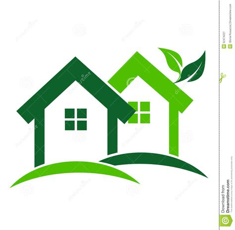 green houses logo stock vector image of architecture