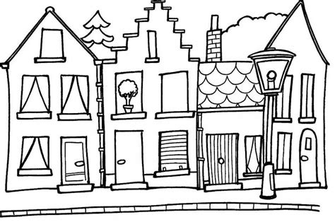 farm house coloring pages for kids houses coloring pages