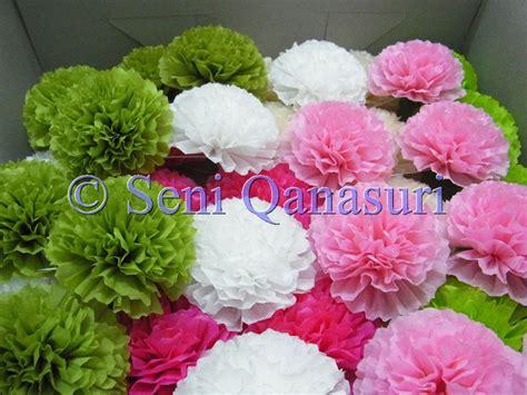 design bunga tisu bunga tisu apple green shocking pink cream white