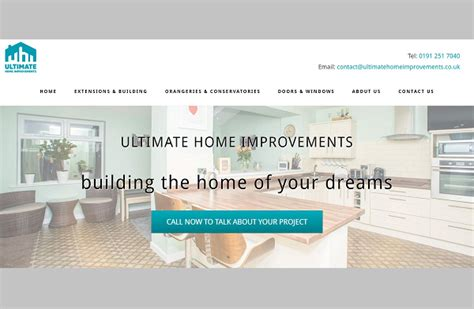 ultimate home improvements jackdaw web design