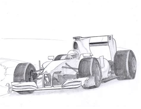 Formula 1 Sketches by Drawing Comics Formula 1 Driver
