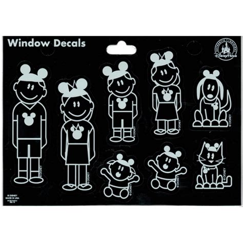 Window Decals Disney by Your Wdw Store Disney Window Decal Family With Ear Hats