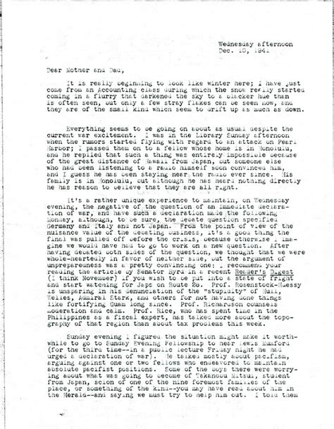 Letter To Families From letters to home