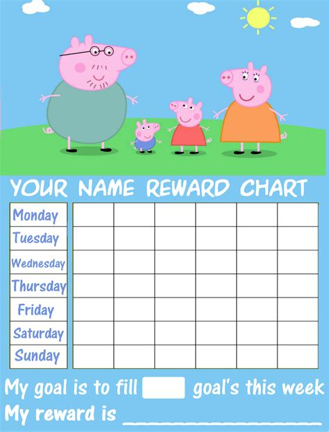 picture of the peppa pig reward chart download the free peppa pig reward chart ebay
