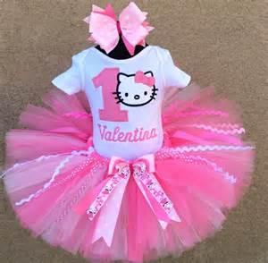 pretty in pink hello kitty personalized 1st birthday tutu