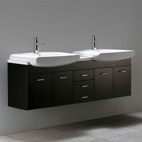 59 quot raynor double sink wall mount vanity