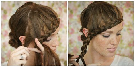 how to french braid bangs to the side easy step by step the freckled fox hair tutorial braided bangs