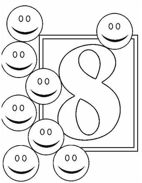 Numbers 8 Coloring Page Number 8 Coloring Pages