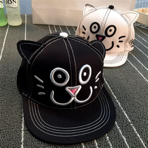 cat hip hop baseball cap style snapback hats personal anime cat