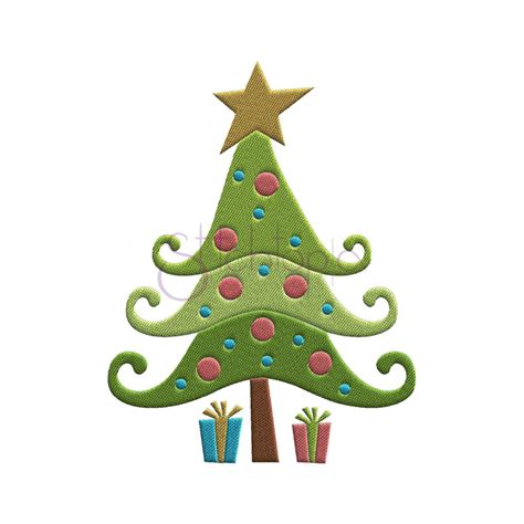 whimsical christmas tree pattern whimsical christmas tree embroidery design christmas