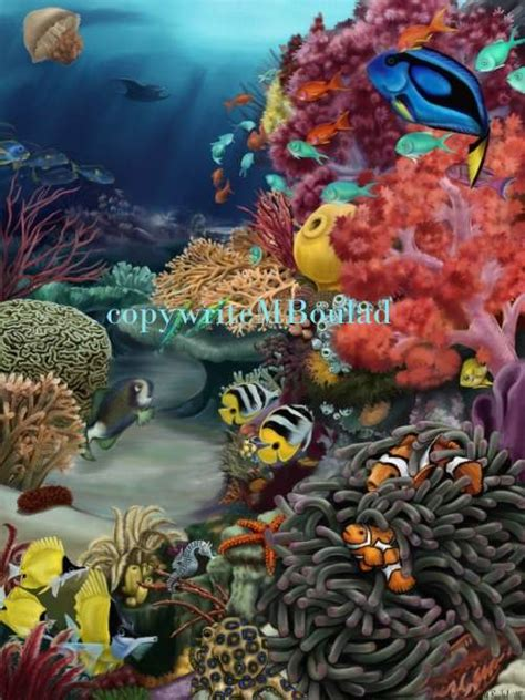 coral reef by jengineerr on deviantart coral reef by mboulad on deviantart