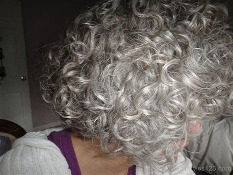 hairstyle for gray thin wavy hair short curly hairstyle