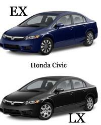 difference between honda civic lx and ex difference