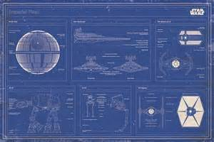 imperial fleet blueprint star wars poster buy online