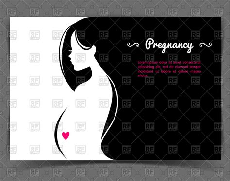 baby thesis abstract young pregnant woman abstract silhouette with heart on