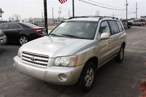 automobile air conditioning service 2003 toyota highlander lane departure warning 2003 toyota highlander base fwd 4dr suv cars and vehicles augusta ga recycler com