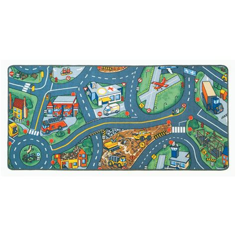 Learning Carpets Play Carpet Airport Multi Kids Rug Lc 158 Play Rug For