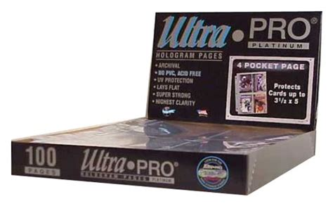 Ultra Pro 4 Pocket Platinum Card Page 3 1 2 X 5 Pockets 3r Kartu ultra pro 4 pocket platinum page with 3 1 2 quot x 5 quot pockets 100 import it all