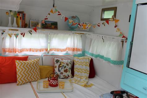 cervan design curtains vintage caravan or travel trailer midcentury family