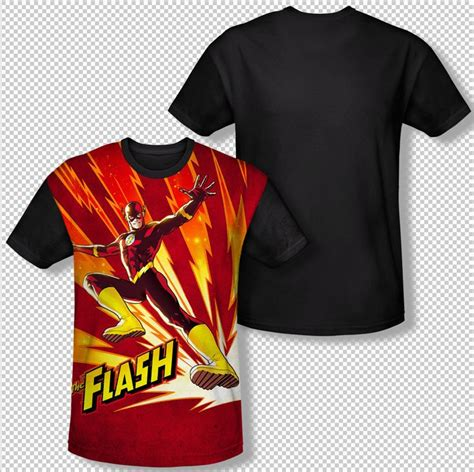 Tshirtt Shirt Dc 2 the flash scarlet speedster lightning fast all front sublimation t shirt mens sizes s m