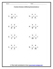 fraction division differing denominators
