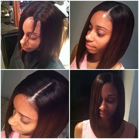 bob with hair bonding in the front short hairstyles with weave hair style and color for woman